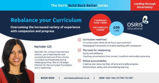 Rebalance your Curriculum